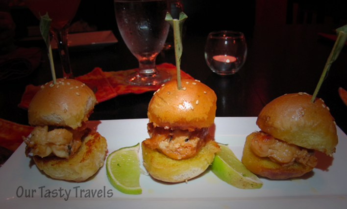Lobster Sliders at Casa Picasso in Ambergris Caye, Belize.