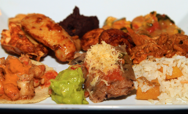 A look at some of the dishes available at Elvi's Kitchen Mayan Buffet