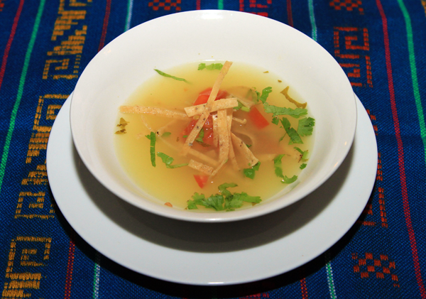 Sopa de Lima - a speciality in Belize